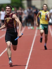 Luxemburg-Casco's Tyler Suess competes in the WIAA