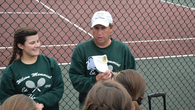 Chad Reed has been the girls tennis coach at Wilson Memorial since 2012.