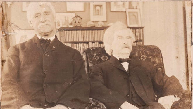 A Wednesday lecture at Quarry Farm will feature the friendship between Mark Twain (right) and Joseph Twichell.