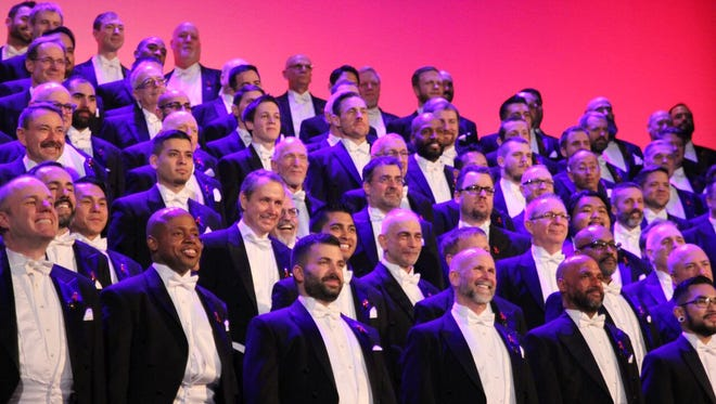The San Francisco Gay Men's Chorus will perform its Lavender Pen Tour at First Baptist Greenville on Oct. 13.