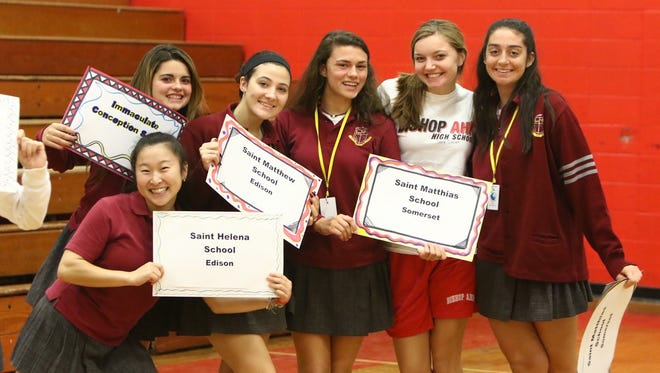 On Nov. 6, the 19th annual Grammar School Competition was held at Bishop Ahr High School, featuring 12 schools from the Diocese of Metuchen.