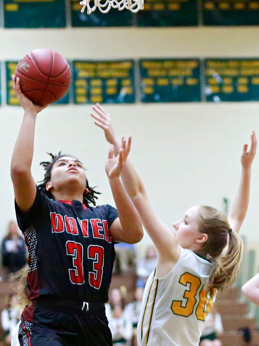 Dover vs York Catholic in girls' basketball