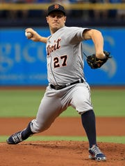 Tigers pitcher Jordan Zimmermann pitches on Wednesday,