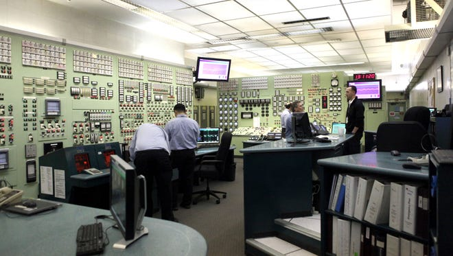 A view inside the control room at the Indian Point nuclear power plant in Buchanan on Jan. 27.