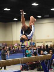 Kara Roberts of Pinckney was 26th all-around in Level 10 at the 2016 U.S. Junior Olympics gymnastics meet.
