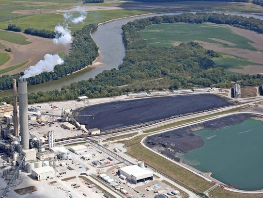 This is Duke's Cayuga Generating Station along the