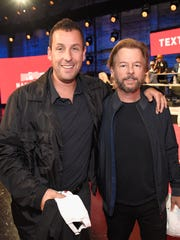 The L.A. effort gave fans a 'Saturday Night Live' reunion between Adam Sandler, left, and David Spade.
