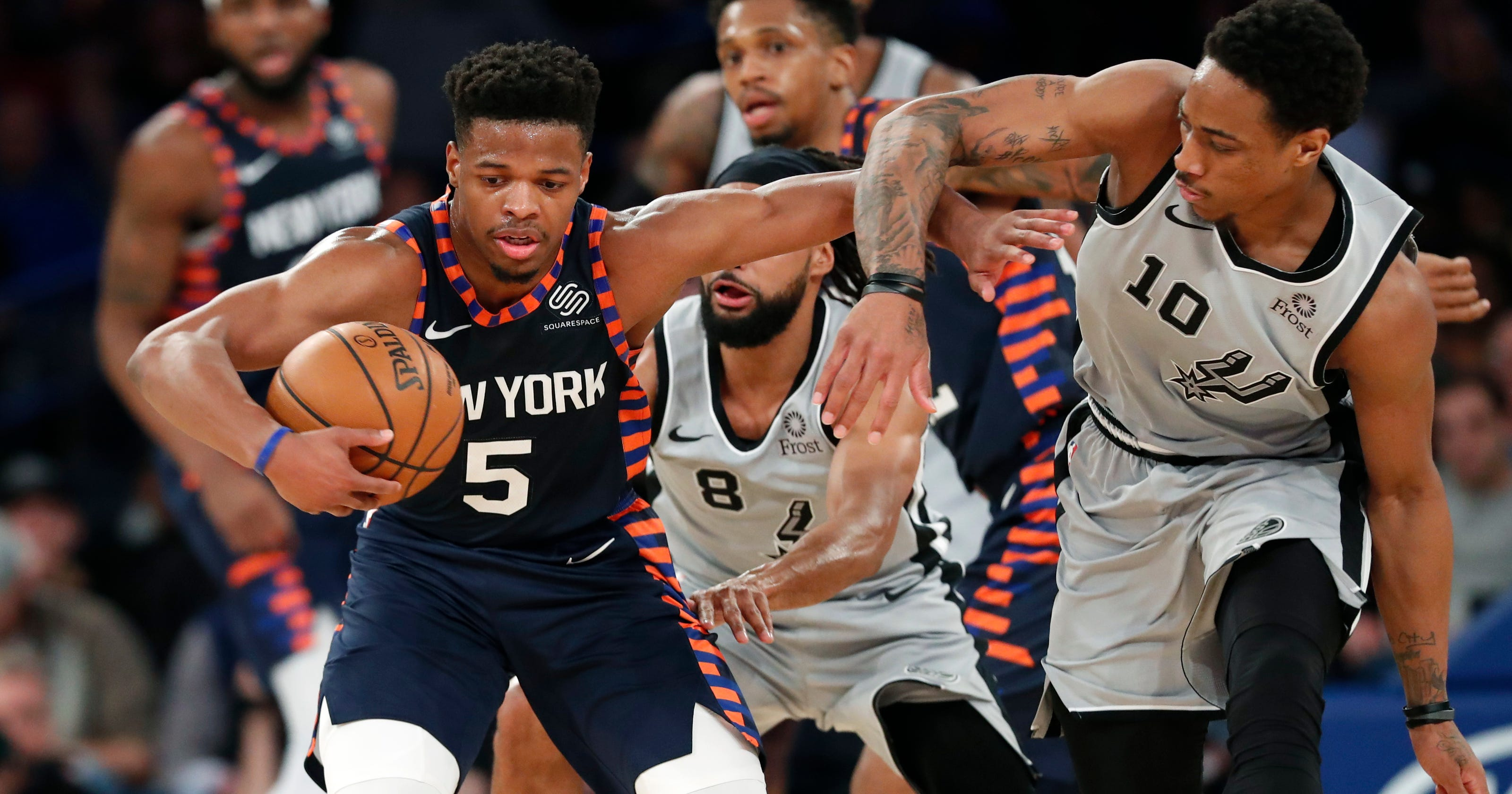 87b2517a9 New York Knicks  What Dennis Smith Jr. has brought to the offense
