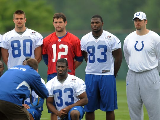 In 2012, the Colts' top three draft picks, from left,
