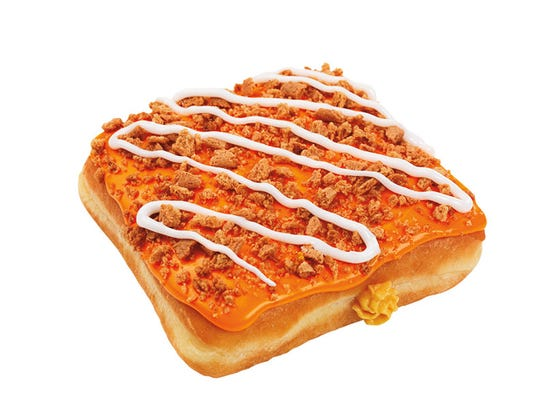 A new donut for Dunkin' Donuts filled with pumpkin
