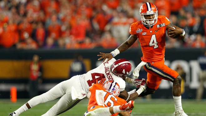 Clemson quarterback Deshaun Watson accounted for more yards by himself against Alabama than every team the Crimson Tide played before the national title game in 2015.