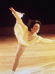 Hamill skates her way to the gold medal in 1976 in Innsbruck, Austria.