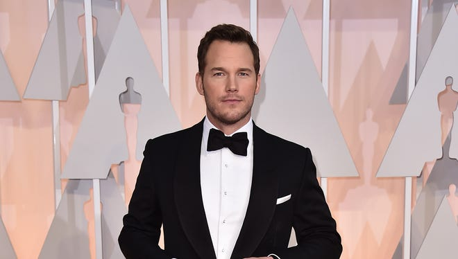 Chris Pratt, seen arriving at the Oscars on Sunday, is expected to compete in Desert Triathlon at Lake Cahuilla.