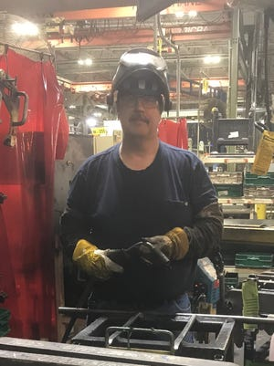 Christofer Matney left his job as flight recruter for an airport to become a welder.