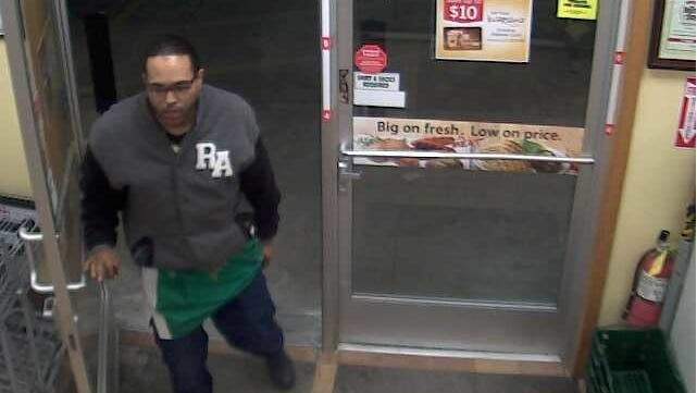 Investigators from the Brown County Sheriff's Office are seeking information about this man in connection with a robbery at Kwik Trip in Bellevue early Friday.