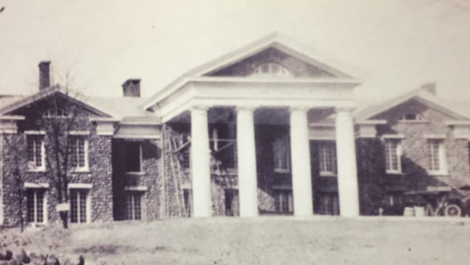 A photo of the Ringling Manor hangs on the wall inside Jefferson's municipal offices.