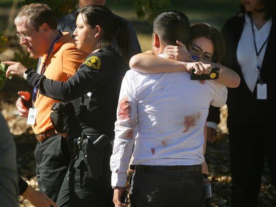 AP APTOPIX CALIFORNIA SHOOTINGS A USA CA