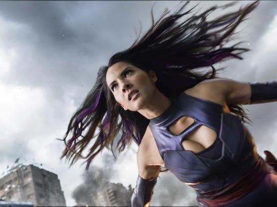"Olivia Munn, as Psylocke, appears in a scene from ""X-Men: Apocalypse."""