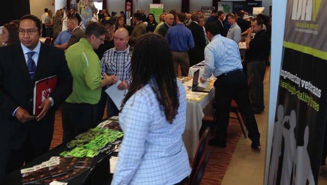 Activity at a DAV-RecruitMilitary All Veterans Career Fair.