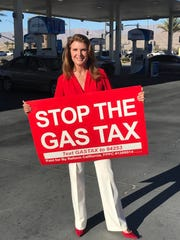 Kimberlin Brown campaigns for the Indio Gas Tax Reform, as seen on her Twitter profile.