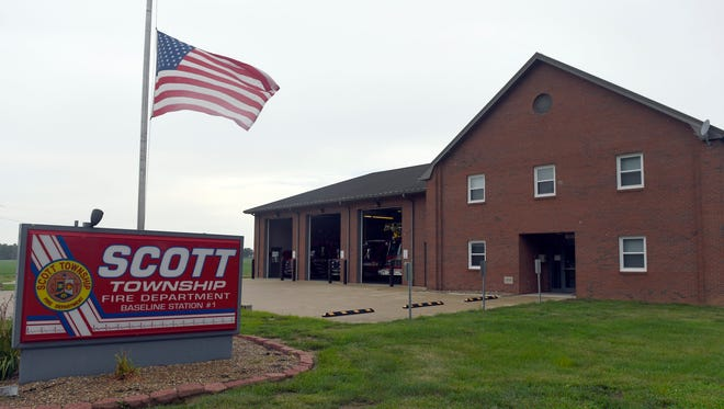 JASON CLARK / COURIER & PRESS ARCHIVESThe Scott Township Fire Department is located in the fastest growing section of Vanderburgh County.