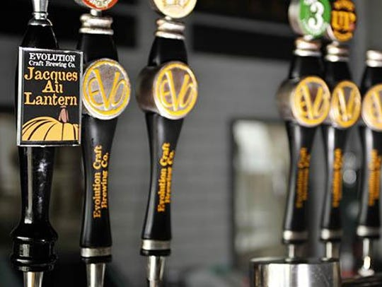 Fall beers on tap at Evolution Craft Brewing Co. in
