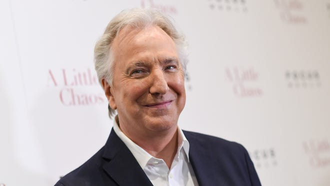 """FILE - In this Wednesday, June 17, 2015 file photo, actor Alan Rickman attends the premiere of """"A Little Chaos"""" at the Museum of Modern Art, in New York. British actor Alan Rickman, whose career ranged from Britain's Royal Shakespeare Company to the """"Harry Potter"""" films, died on January 14, 2016. He was 69.  Rickman's family said Thursday, Jan. 14, 2016 that the actor had died after a battle with cancer."""