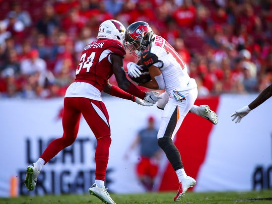 Some calls did not go the Arizona Cardinals' way in the loss to the Tampa Bay Buccaneers. (Photo by Will Vragovic/Getty Images)