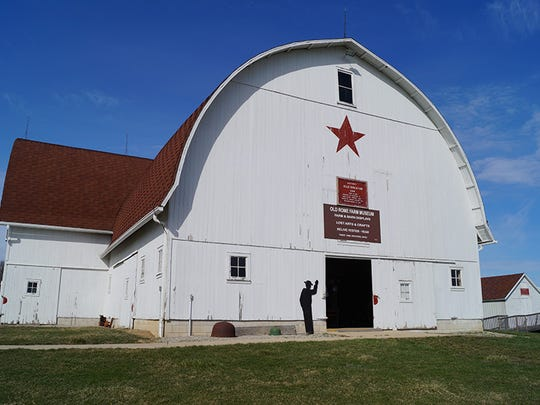 The 'Big Barn' was relocated to its current home from a farm over a mile away.