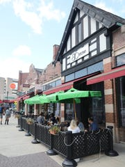 The outdoor dining area at BC Kitchen in Poughkeepsie,