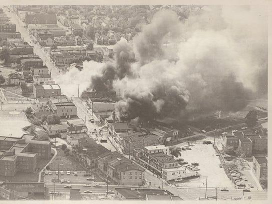 Text: Asbury Park Riots July 1970. bf7