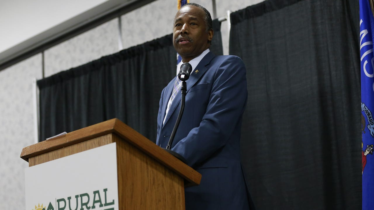U.S. Secretary of Housing and Urban Development Ben Carson attends U.S. Rep. Sean Duffy's Hunger and Homelessness Summit in Rothschild.