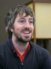 Teacher Mark Shirbroun,  Harding Middle School in Des