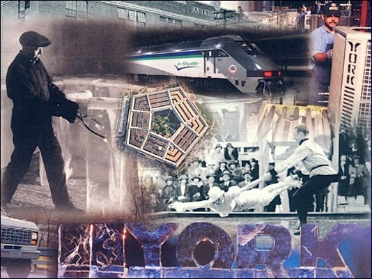 Montage from 1994 Annual Report of York International Corporation