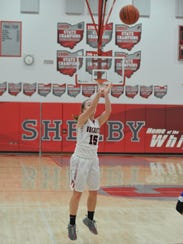 Buckeye Central's Taylor Ratliff shoots a 3-pointer.