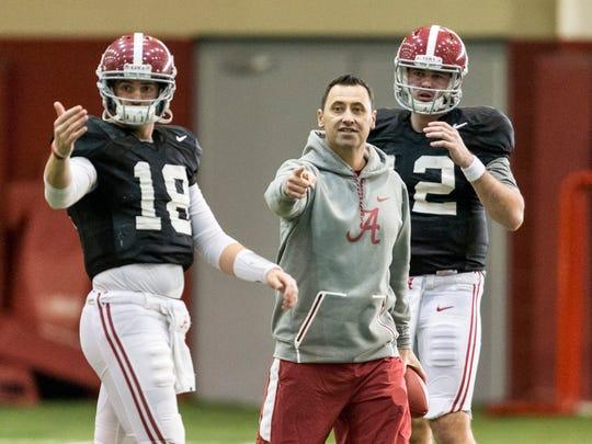 Alabama offensive coordinator Steve Sarkisian works