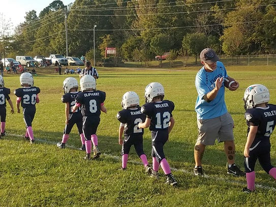 Fairview Titan PeeWees take the field for the big game.