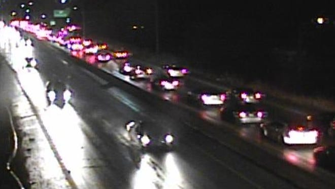 A crash closed the Norwood Lateral Thursday night.