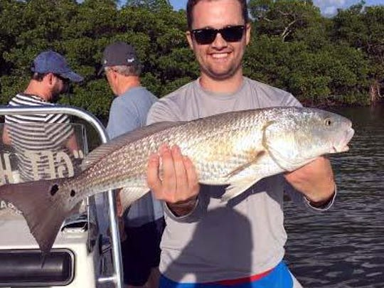 Richard Young knew he wasn't in Kansas (City) anymore, when this upper-slot-size redfish rand down his live sardine on the Starvation Key flats last Wednesday, on his Get Hooked Charter with Capt. Matt DeAngelis.