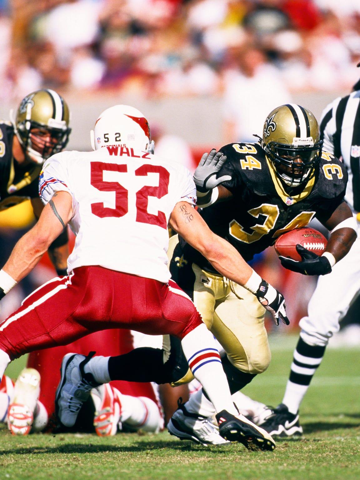 New Orleans Saints running back Ricky Williams (34)