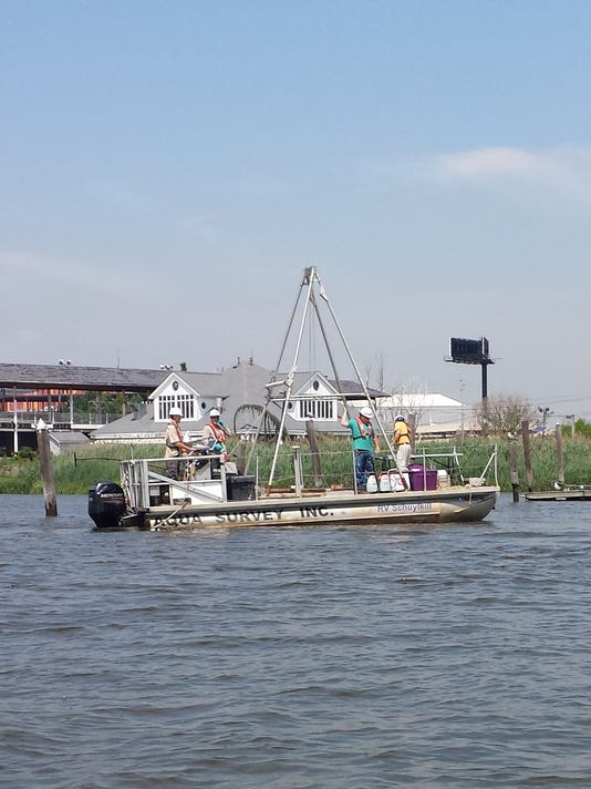 EPA craft on Hackensack River