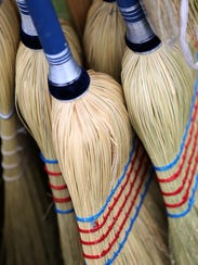 Jim Richter, The Broom Guy, used to make the brooms