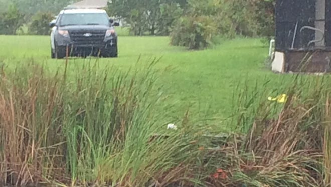 James Bates, 54, toppled with a lawnmower into a canal in Cape Coral Monday. He is in critical condition in Cape Coral Hospital.