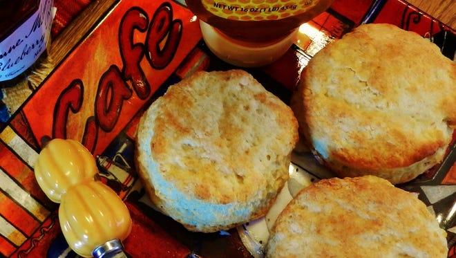 Sour cream buttermilk biscuits.
