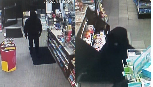 Police are looking for this man, who robbed a convenience store in Audubon recently.