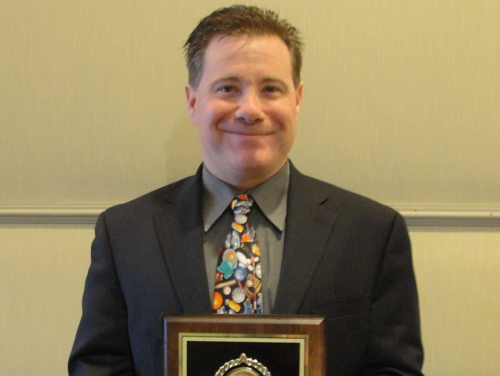 Thomas Moran was inducted into the New Jersey Scholastic Coaches Association Hall of Fame for his coaching contribution in volleyball and softball at Mother Seton Regional High School in Clark.