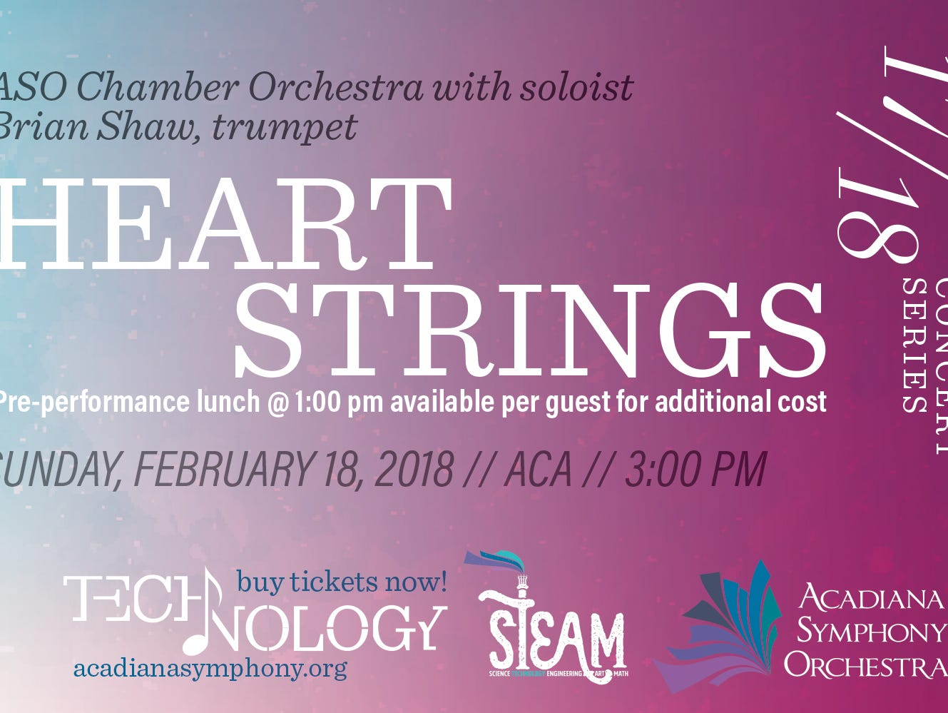 Enter to win tickets to the sold out 3 p.m. show on Feb. 18th. Enter to win by 2/14!