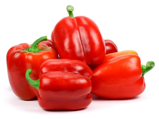 Red bell peppers pack twice the Vitamin C as oranges.