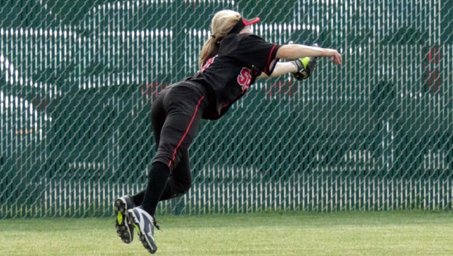 Strong defense as explempfied by this diving catch from center fielder Ally Miklesh is one reason why the Stevens Point Area Senior High softball team is back at the Division 1 state tournament in Madison.