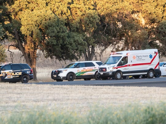 One person was killed in a vehicle chase following an officer-involved shooting in Los Molinos on Saturday.